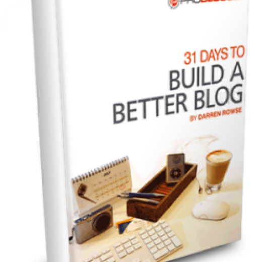 31 days to a better blog darren rowse ebook cover