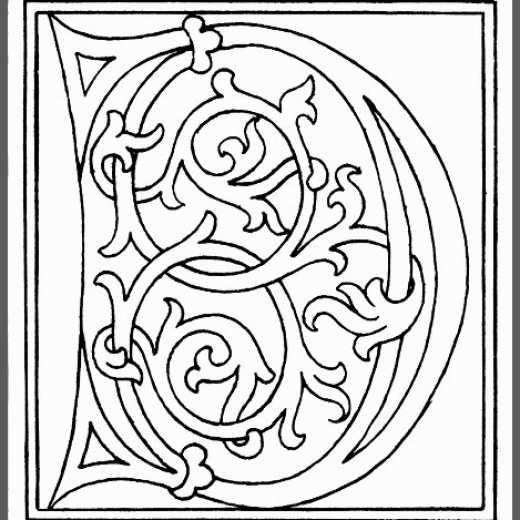The Letter D from http://www.fromoldbooks.org/Shaw-Alphabets/pages/065-alphabet-end-of-15th-century-letter-D/