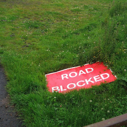 Road block -- Some rights reserved by Bryn Pinzgauer