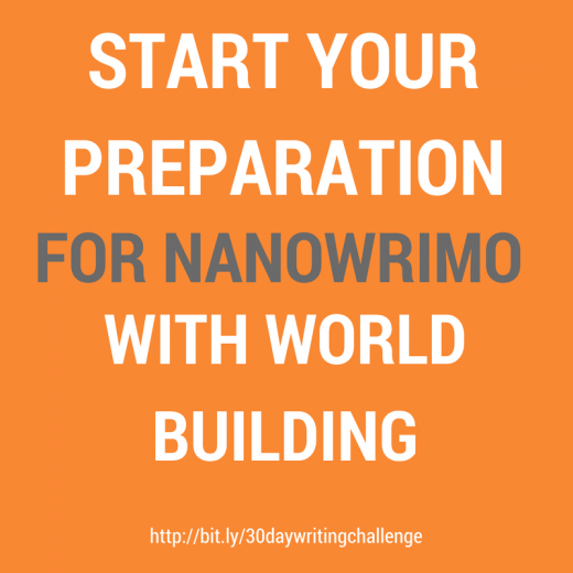 Start Your Preparation for Nanowrimo with World Building